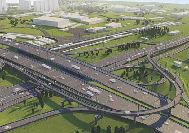 В Москве стали реконструировать развязку на пересечении МКАД и Волоколамки